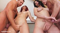Ruby and Kasandra in hardcore fuck and cum swapping scene from Sperm Swap