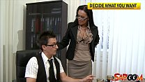 dirty office bitch mela gets nailed