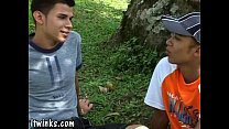 Two hot Latin twinks take turns to fuck each other