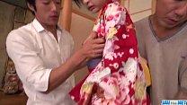 Wild encounter with two cocks for insolent Yuna Shiratori porn videos