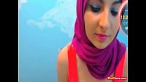 on hijab with dancing babe arab Hot
