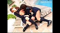 2 Schoolgirls In Uniform Kissing Passionately Sucking Nipples Patting Fingering Each Other In The Ga porn videos