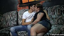 Big titted lady rides his young meat – vpkat.com
