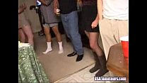 amateur american cuckold wife gets gangbanged at private party by husbands friends