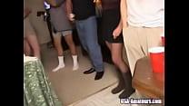 Amateur American Cuckold Wife Gets Gangbanged A...