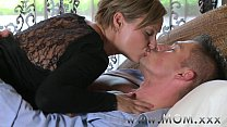 XXX MOM Mature Brunette rides his cock Videos Sex 3Gp Mp4