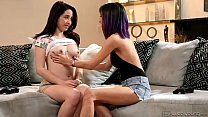 Teenie Eva Sedona and April O'Neil Licking Each...