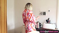 Girls Out West - Small titted Aussie blonde rub...
