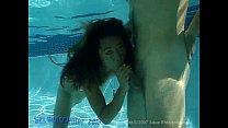 Asian underwater group blowjob