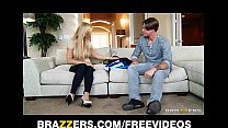 single blonde mom amber lynn rides her son in law s big dick