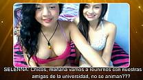 video fron webcam en emma y Selena