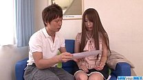Yui Hatano uses her lips to devour a whole dick