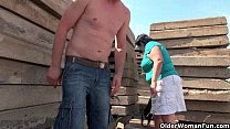 outdoors fucked nipples inch 1 with grandma Ugly