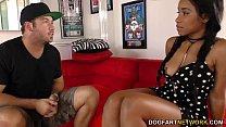Busty Ebony Jenna Foxx gets fucked on casting thumbnail