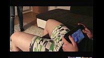 Dude Plays Wii U, While His GF Sucks His Cock. ...