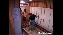 matures horny two with fuck group Sauna