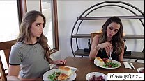 breakfast turns into hot pussy tribbing with remy and ariella