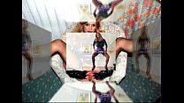 Bigboobed Sperm-Traudl in front a machine for e...