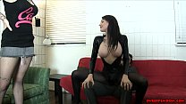 lesbians sitting face ballbusting friend hot and chick Goth