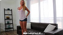Casting Couch-X Florida beach blonde fucks on cam)