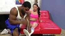 Interracial foot fetish sex with Casey Calvert