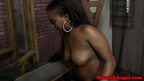 Big booty ebony eaten out and fucked