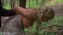 Babe gets lusty slit prodding