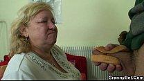 cock yummy tastes granny Busty