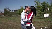 Teen Nikki gets fucked and jizzed outdoors