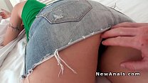 busty blonde amateur does anal