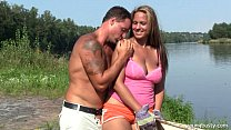 busty young leila gets fucked outdoors