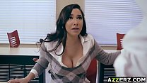 Naughty student Karlee Grey swallows a huge cock porn videos