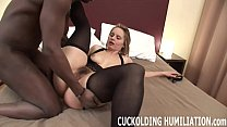 w... you while cock black his on gag to going am I