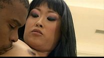 Japanese chick meets monster cock