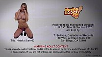 Blonde Natalia Starr blowing a big dick