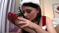 aleska diamond and lucy li xmas lollipop foot fuck