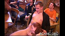 Men and angels on sex party