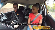 Fake Driving School ebony learner with big tits is worst driver yet porn videos
