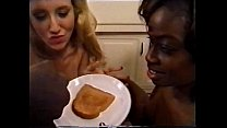 cum on food - interracial toast cum