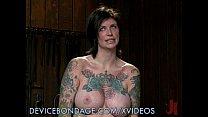 tattooed busty babe punished