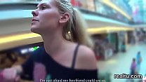 Beautiful czech girl is tempted in the shopping...