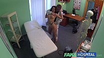 fakehospital gorgeous pole dancer with hot body swallows the doctors medicine