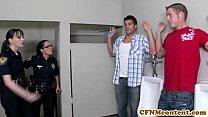 facialized gets cop hot dearmond Dana