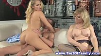 Blonde stepmom and teen fucking bloke
