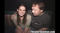 brunette cutie april gets fucked in a porn theater