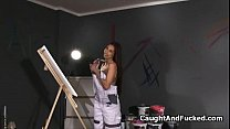Bigtit painter blows strangers dick