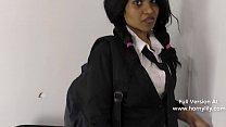 Indian naughty schoolgirl sexually bribes teacher for good grades in Hindi POV