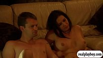 Couples try to fuck sybian before orgy