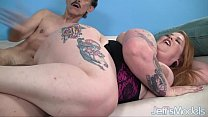 Tattooed porker Bailey is fucked by a sleazy guy