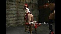 Schoolgirl has her pussy clamped